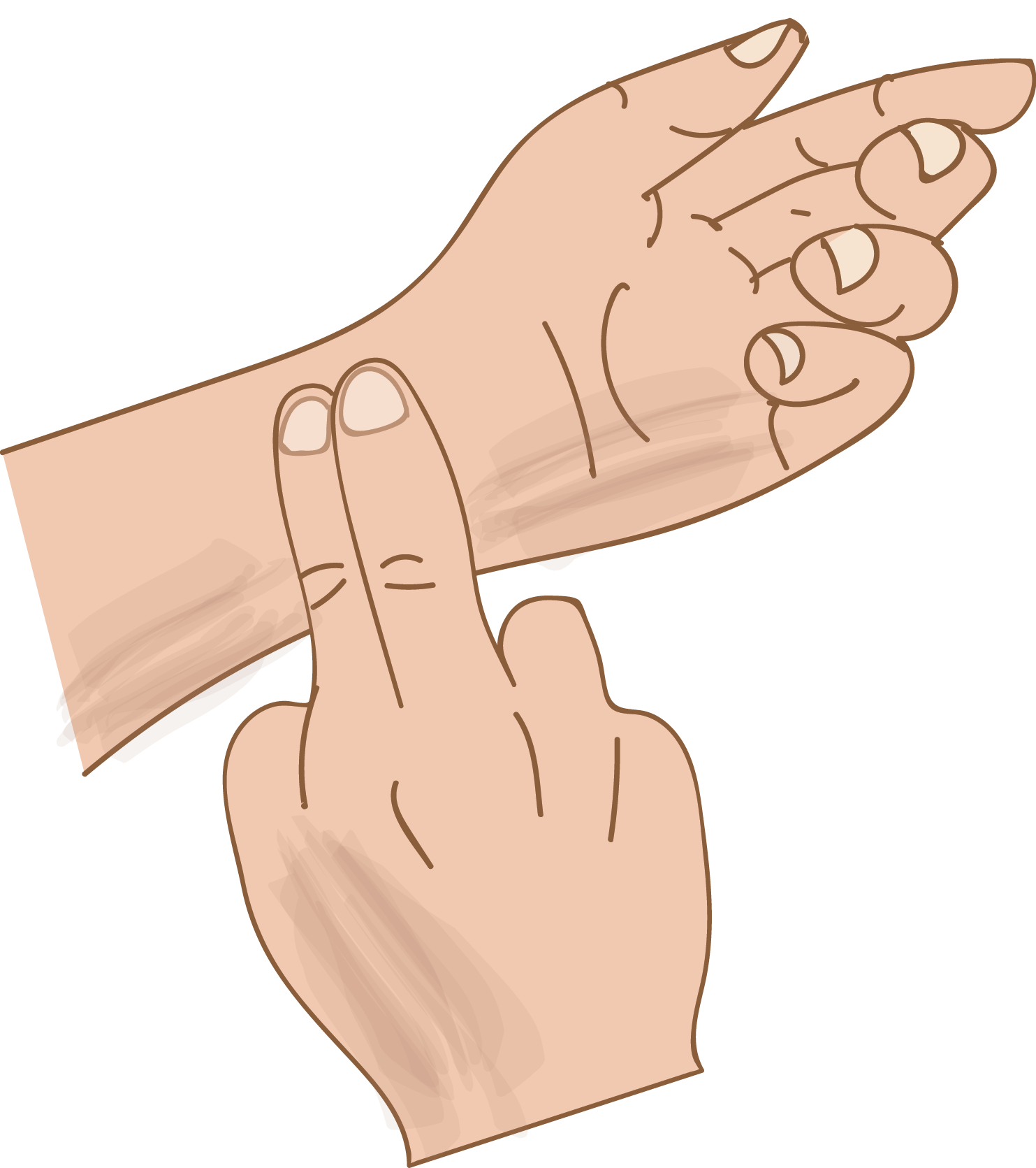 Taking your pulse at the wrist from Clinical Procedures for the Canadian Office Assistant, published by DDE Media Company, 2016