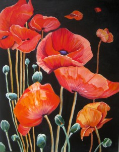 dancing_poppies acrylic painting