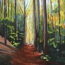 Autumn Path acrylic painting