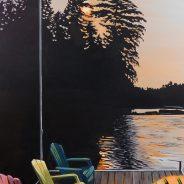 Summer Sunset over Dock