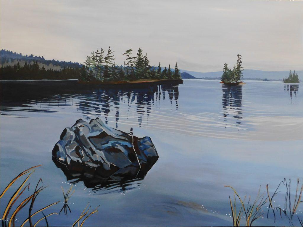 Dunlop Lake painting